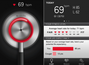 Cardiio, application, coeur, Ipad, Iphone, fréquence, cardiaque